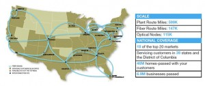 Comcast Route Map and Stats